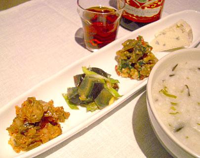 中華粥薬味
