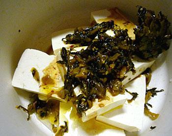 島豆腐と高菜