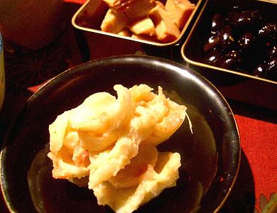 百合根の梅酢味噌
