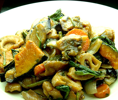 野菜と鯵の甘酢和え