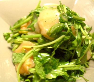 ルッコラ、帆立サラダ
