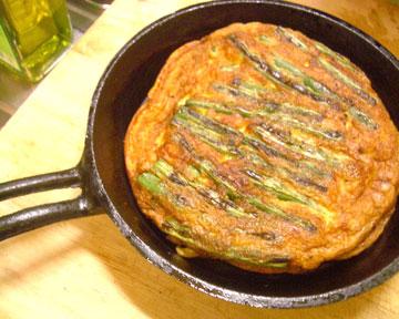 インゲン卵焼きフライパン