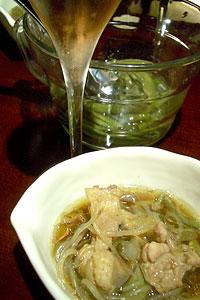 じゅんさいx鶏鍋