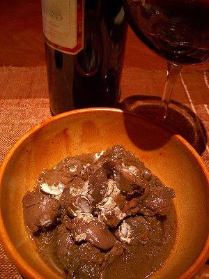 レバー赤ワイン煮