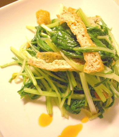 みぶ菜と水菜の副菜