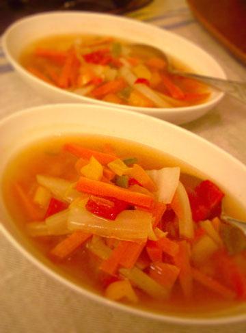 パプリカ人参スープ