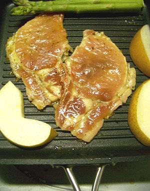 豚肉と梨のたれ焼き