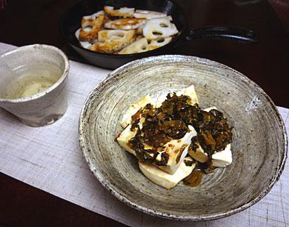 島豆腐高菜蒸し