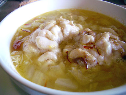白子と野菜のスープ