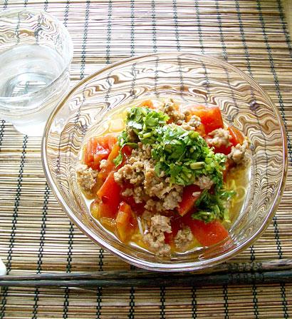 トマトそぼろ麺