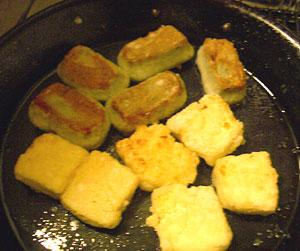 豆腐と生麩