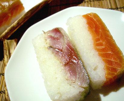 鯖サーモン寿司
