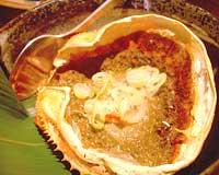 海鮮山蟹味噌焼き