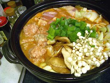鶏ピリ辛鍋